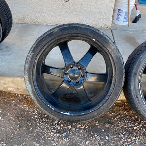 2 Black Rims for Sale in Nellis Air Force Base, NV