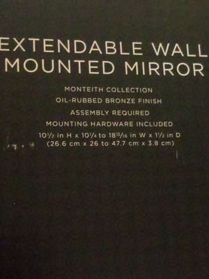 Small Extendable Wall Mounted Mirror for Sale in Cleveland, OH