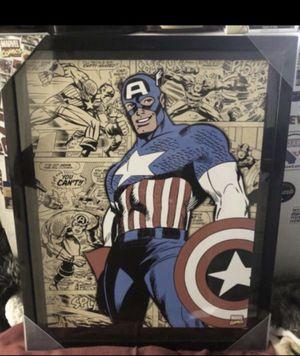 brandnew in glass captain america px collectibles $30 for Sale in Rancho Cordova, CA