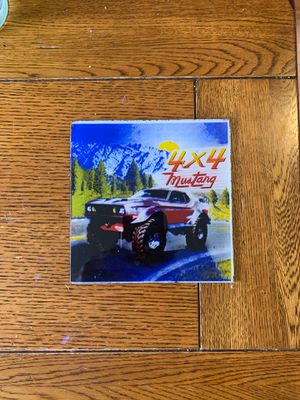 4x4 Mustang Glass Collectible Tile for Sale in Round Rock, TX