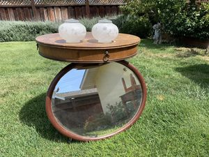 Antique table, mirror and light fixture for Sale in Gilroy, CA