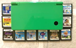 Rare Green Nintendo DSI w/8 Games for Sale in Cadillac, MI