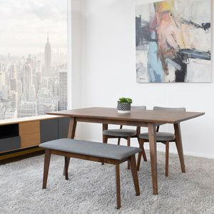 Lewin Solid Wood Dining Table, George Oliver for Sale in Ontario, CA