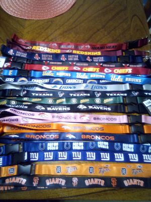 New sports lanyards..5$each for Sale in Huntington Park, CA