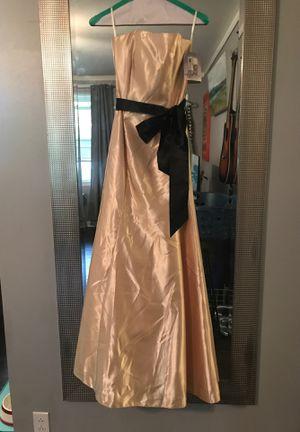 Golden yellow prom dress or formal dress for Sale in Hendersonville, TN