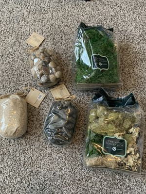 Terrarium supplies, moss, stones, sand - DIY for Sale in Phoenix, AZ