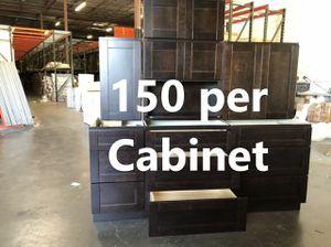 New espresso brown mocha shaker kitchen cabinets 150 per box regardless of size. for Sale in League City, TX