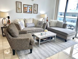 3 pieces Love Seat, Accent Chair and Chaise Lounge for Sale in Miami, FL