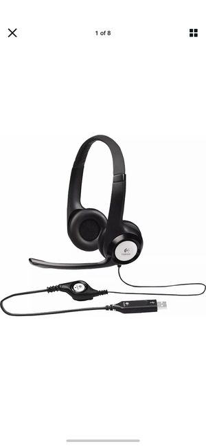 Logitech USB Headset H390 with Noise Cancelling Mic | USA | ready to ship for Sale in Brooklyn, NY