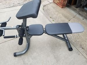 ADJUSTABLE BENCH 6 POSITIONS WITH ATTACHMENTS for Sale in Chicago, IL