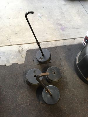 Bench press eccentric hooks/ weight release hooks/ 200lbs weights for Sale in West Covina, CA