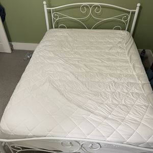 hybrid mattress with waterproof protector and metal bed frame for Sale in Vancouver, WA
