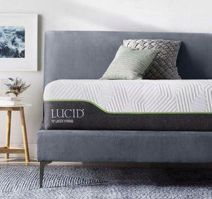 LUCID 12 Inch Full Latex Hybrid Mattress for Sale in Menlo Park, CA