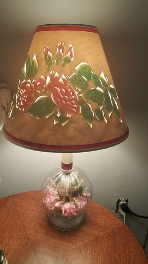 Lamp roses cut outs antique 40s for Sale in Clarksville, TN