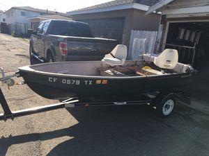 12' aluminum boat plus trailer for Sale in Los Angeles, CA