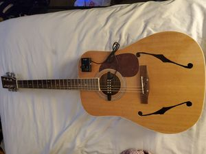 Customized Acoustic/Electric guitar with f-holes and magnetic pickup for Sale in Torrance, CA