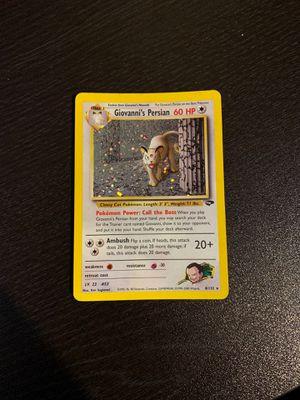 Pokemon Card Giovannis Persian for Sale in Pasadena, MD