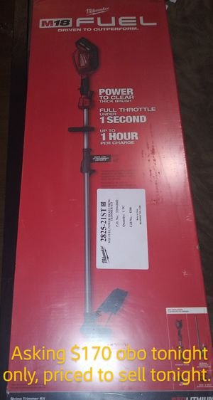 Milwaukee m18 fuel string trimmer with quick lok for Sale in Federal Way, WA