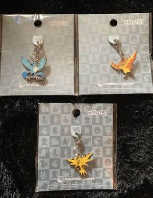 Pokemon Center Edition Original Metal Charm Minis Key Chain Ring for Sale in Los Angeles, CA