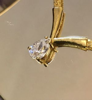 REDUCED: Monet Designer Gold And Diamond CZ Pendant for Sale in Raleigh, NC