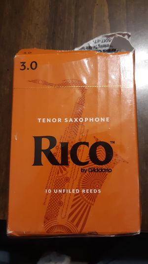 Rico Tenor saxophone 10 unfilled reeds for Sale in Mechanicsville, MD