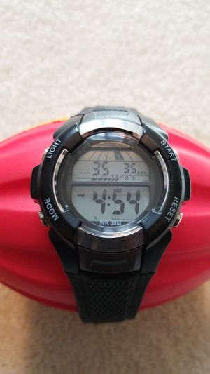 Concepts in Time Water Resistant Watch (Black/Silver) for Sale in Falls Church, VA