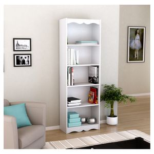 """Hawthorn 72"""" Tall Bookcase - Frost White - Corliving for Sale in Hilliard, OH"""