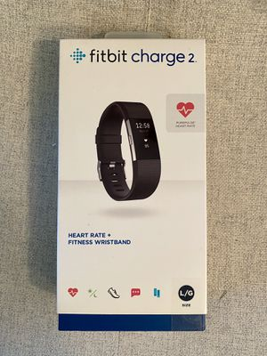 Brand New Fitbit Charge 2 size L/G Stainless Steel Tracker Black Band for Sale in West Springfield, VA