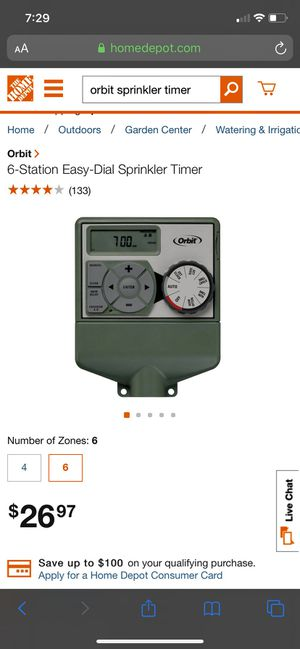 Six station easy dial sprinkler timer for Sale in Ontario, CA