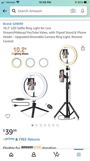 Selfie ring light new in box for Sale in Highland, CA