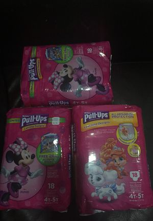 Huggies pull up 4-5 3packs for Sale in Queens, NY