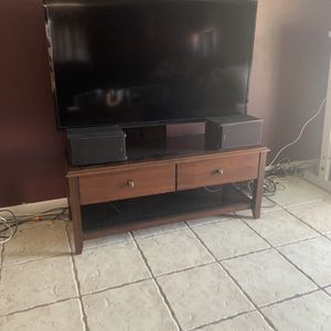 """54"""" Brown TV Stand for Sale in San Diego, CA"""