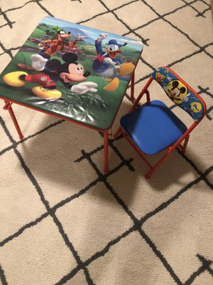 Kids Mickey table & chair for Sale in Vancouver, WA