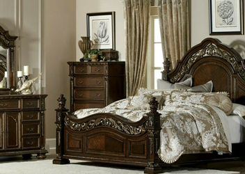 $39 Down Payment 🍒SPECIAL] Catalonia Cherry Panel Bedroom Set by Homelegance for Sale in Washington,  DC