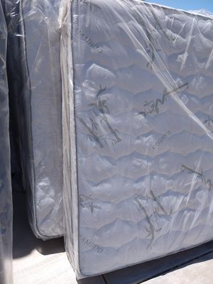 Bamboo mattress and box spring same day deliver for Sale in Guadalupe, AZ