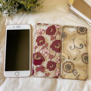 iPhone 8 Plus 256 GB with a Kate Spade case and Vera Bradley case. for Sale in Hacienda Heights, CA