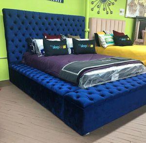 💥💥💥💥NEW. Bliss Velvet Navy Twin Storage Platform Bed. for Sale in Pasadena, TX