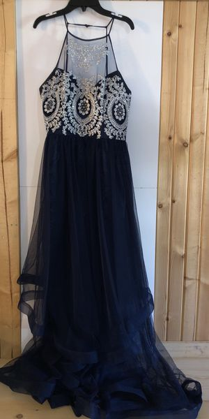Bee Darlin Navy Blue Prom Dress (David's Bridal) - Size 15/16 for Sale in Murray, KY