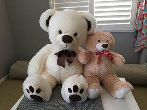 2 large teddy bears for Sale in Sacramento, CA