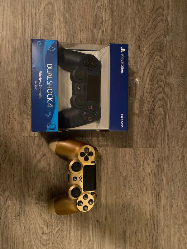 Ps4 controllers - midnight blue(Brand new) - gold (used)