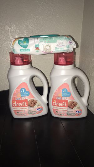 Dreft Detergent and Pampers Baby Wipes for Sale in Chandler, AZ