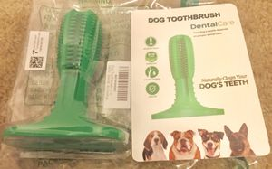 Wisedom Dog Toothbrush Stick Dental Care Teeth Cleaning Massager Nontoxic Natural Rubber Bite Resistant Chew Toy for Dogs for Sale in Indianapolis, IN
