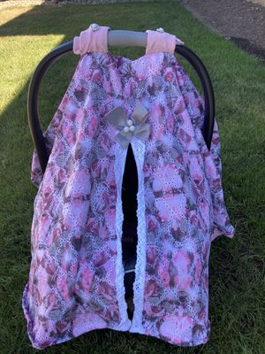 Handmade baby car seat/carrier cover for Sale in Vancouver, WA