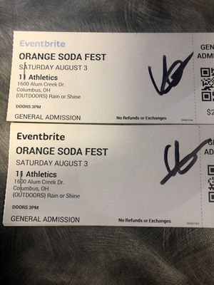 Orange Soda Fest (4 Tickets) for Sale in Columbus, OH