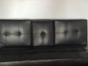 Futon Black leather for Sale in Cape Coral, FL