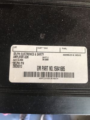 C6 corvette amp for Sale for sale  Palmdale, CA