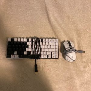 RGB White Gaming Keyboard And Mouse for Sale in Irving, TX