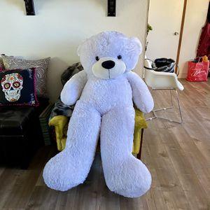 Oversized White Teddy Bear for Sale in Long Beach, CA