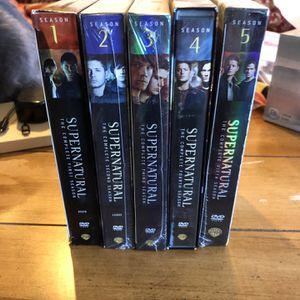 Supernatural Seasons 1-5 Dvd for Sale in Moore, OK
