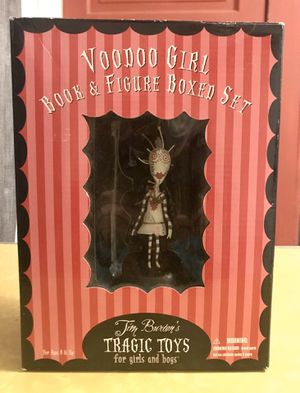 Tim Burton's Tragic Toys for girls and boys Voodoo Girl Book and Figure boxed set for Sale in Redlands, CA